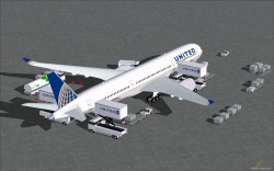 FS2004 UNITED Airbus A350-1000 v4 image 1