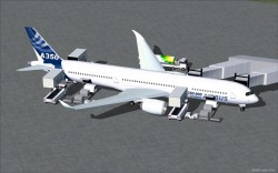 FS2004 House Colors Airbus A350-900 XWB V2 image 1
