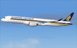 FS2004 Singapore Airlines Airbus A350-900 XWB image 1