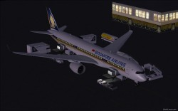 FS2004 Singapore Airlines Airbus A350-900 XWB image 2