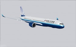 FS2004 United Airlines Airbus A350-900 XWB V2 image 2