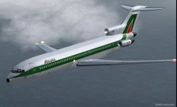 exclusively Fs2002 Boeing 727-200 Alitalia image 1