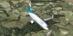 FSX/P3D Boeing 737-800 Luxair package with image 6