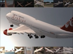 Fs2002 Boeing 747-400 Arabian Airlines Virtual image 1