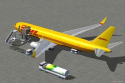 FSX DHL Cargo Boeing 767-300 ER3 with Blended image 2