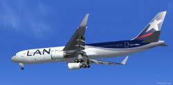 FSX LAN Airlines Boeing 767-300 ER with Blended image 1