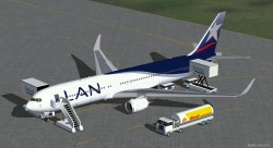 FSX LAN Airlines Boeing 767-300 ER with Blended image 2