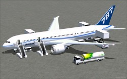 FS2004 N787ZA flight test airplane Boeing 787-8 image 2