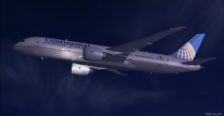 FSX Continental Boeing 787-8 V2 image 1