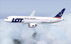 FSX LOT Airlines new colors Boeing 787-8 V2 image 3