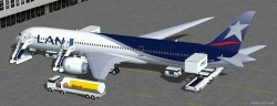 FS2004 LAN Airlines Boeing 787-9 including 4 image 2