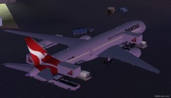 FS2004 Qantas new colors Boeing 787-9 image 2