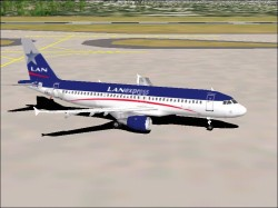 Fs2000/fs2002 Aircraft Airbus A320-212 Lan image 1