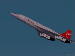 Fs2002 Concorde Virgin Livery Concept Textures image 1