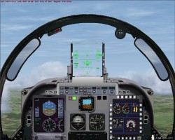 FSX Embraer A-29B Panel image 1