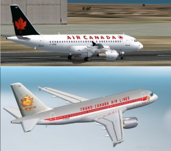 Fs2002 A319-112 Air Canada Features Fully image 1