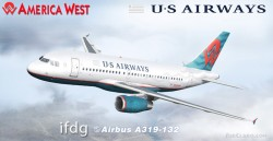 FS2004 iFDG Airbus A319 Airways/America West image 1