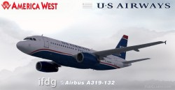 FS2004 iFDG Airbus A319 Airways/America West image 2