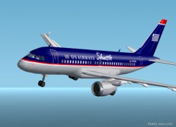 Fs2002 A319-112 Airways Shuttle N752us image 1