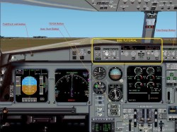 realistic A330-200 Eurofly panel FS2002 image 1