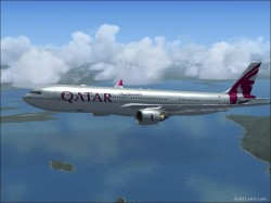 FSX A330-300 Qatar Airways image 1