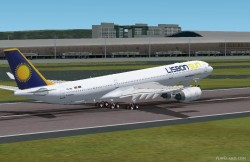 Fs2002 Lisbon Sun Airbus A340-500 Powered Rr image 1