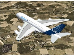 FS2004 Airbus A380-800 April 27 2005 image 1