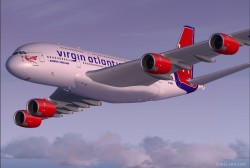 FSX A380-800 Virgin Atlantic Airways G-VMEG image 7