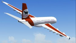 FS2004 Airbus A380-800 High quality Gmax model image 2