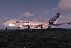FSX Airbus A380 v2 Industries House Demo image 1