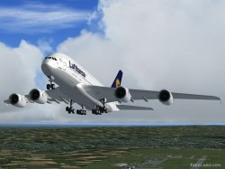 Airbus A380 Emirates Airlines FSX image 2