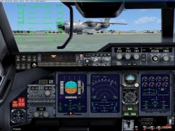 FSX panel military transporter Airbus A400 image 1