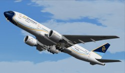 FS2004 AIRCURACAO Boeing 777-200ER image 1