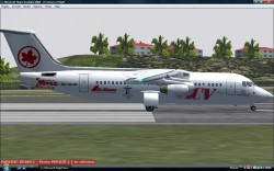 BAe-146X Project Flightsimulator 2004 Model image 1