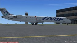 FS2004/FSX Adria Airways CRJ-900LR image 1