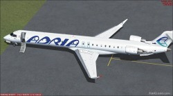 FS2004/FSX Adria Airways CRJ-900LR image 2