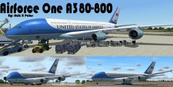 FS2004/FSX Airforce One A380-800 Airforce One image 1