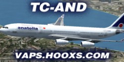 AIR ANATOLIA AIRBUS A340 fs2004 Model Posky image 1
