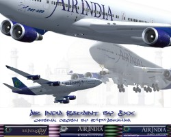 Posky Air India Fictional 747-400 image 1