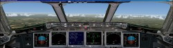 FS2004 Boeing 717-200 panel dual monitors image 1