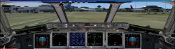 FSX Boeing 717-200 panel dual monitors image 1