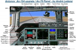 Flightsim FS2004/FS98 Panel - New An-124 / image 1