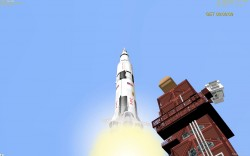 Saturn V Apollo 11 launch simulation video part image 1