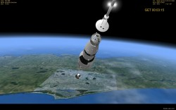 Saturn V Apollo 11 launch simulation video part image 3