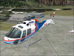 Fs2002 As350b Air Grischa switzerland image 1