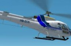 Fs2002 As350b Heli Rezia switzerland image 1