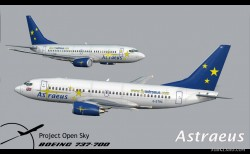 Astraeus Virtual PROJECT OPENSKY BOEING 737-700 image 1