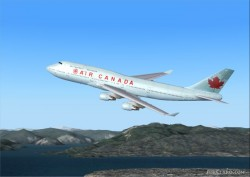 Boeing 747-400 Air Canadas new livery AI image 1