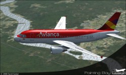 Project Airbus Avianca A319-112 HK-4553-X image 2