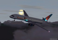 FS2002 Aircraft- America West Boeing 757-200 image 1